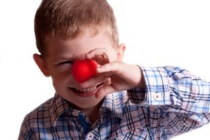 Little boy for Red Nose Day